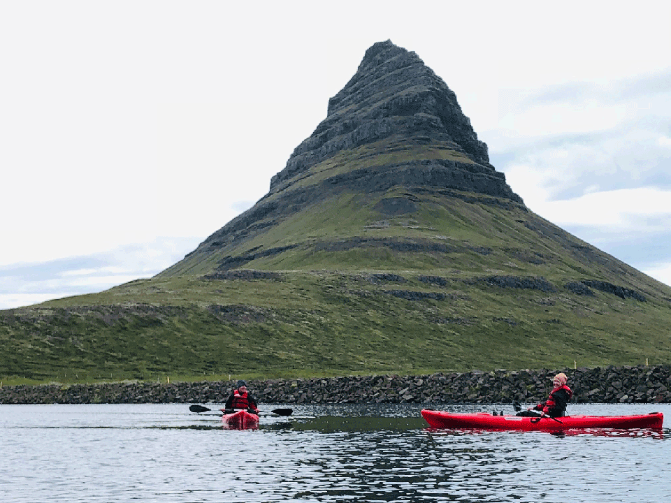 kayak tour in Iceland